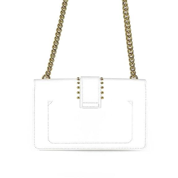 PINKO PELLETTERIA love pins tracolla 1p212z y4j3z04 white a8e Taglia uni  spring summer  Handbags  Amazon.com 45fceef126