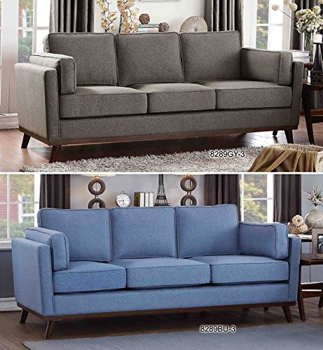 Homelegance Bedos Upholstered Living-Room Arm, Blue Fabric Chair, -  - sofas-couches, living-room-furniture, living-room - 51D2uYCNfML -