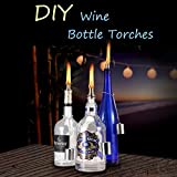 LANMU Wine Bottle Tiki Wicks,Oil Lamps,Tabletop Torch,Patio Torch,Table Top Torch Lantern Kit for Spring Summer Nights/Outdoors