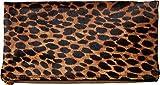 McQ Women's 352424R1B98 9032 Fold Clutch White Leopard Pixel Leopard One Size