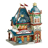 Department 56 North Pole Village Northern Lights Depot Lit House, 7.7 inch