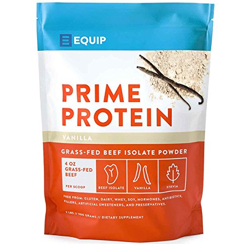 Beef Collagen Paleo Protein Powder- Keto Vanilla Low Carb Ketogenic Diet Supplement Vital for Caveman & Carnivore Nutrition of Ancient Source. Best as Gelatin Muscle Meat Proteins Drink. Equip Foods