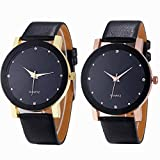 Mens Quartz Watch,COOKI Unique Analog Business Casual Fashion Wristwatch, Luxury Design Watches with Round Dial Case,Comfortable PU Leather Band-W34
