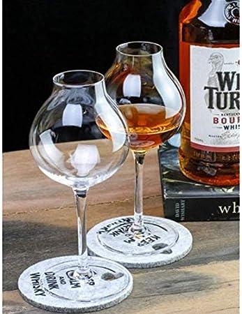 Botella de Whisky con Vaso Taza de Copa de Cristal de Whisky, Camarero de Cristal x2 Botella de Whisky Regalo