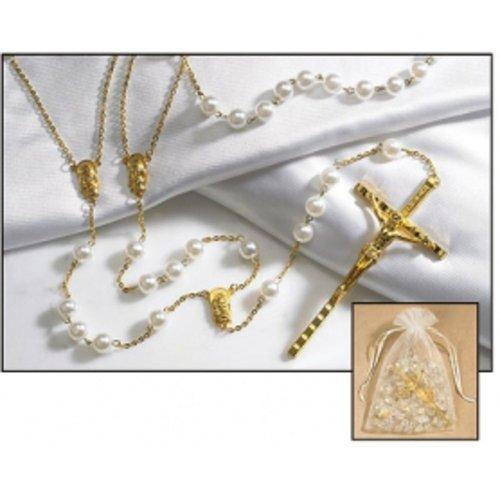 Imitation Pearl Lasso Wedding Rosary