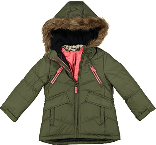 London Fog Little Girls' Winter Jacket Coat With Removable Vest, Green, 4