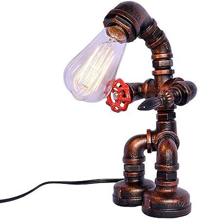 MAGICE Industriel Conduite d'eau Lampe de Table, Créatif Art