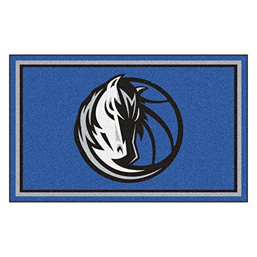 FANMATS 20424 NBA - Dallas Mavericks 4'X6' Rug, Team Color, 44''x71'' by Fanmats