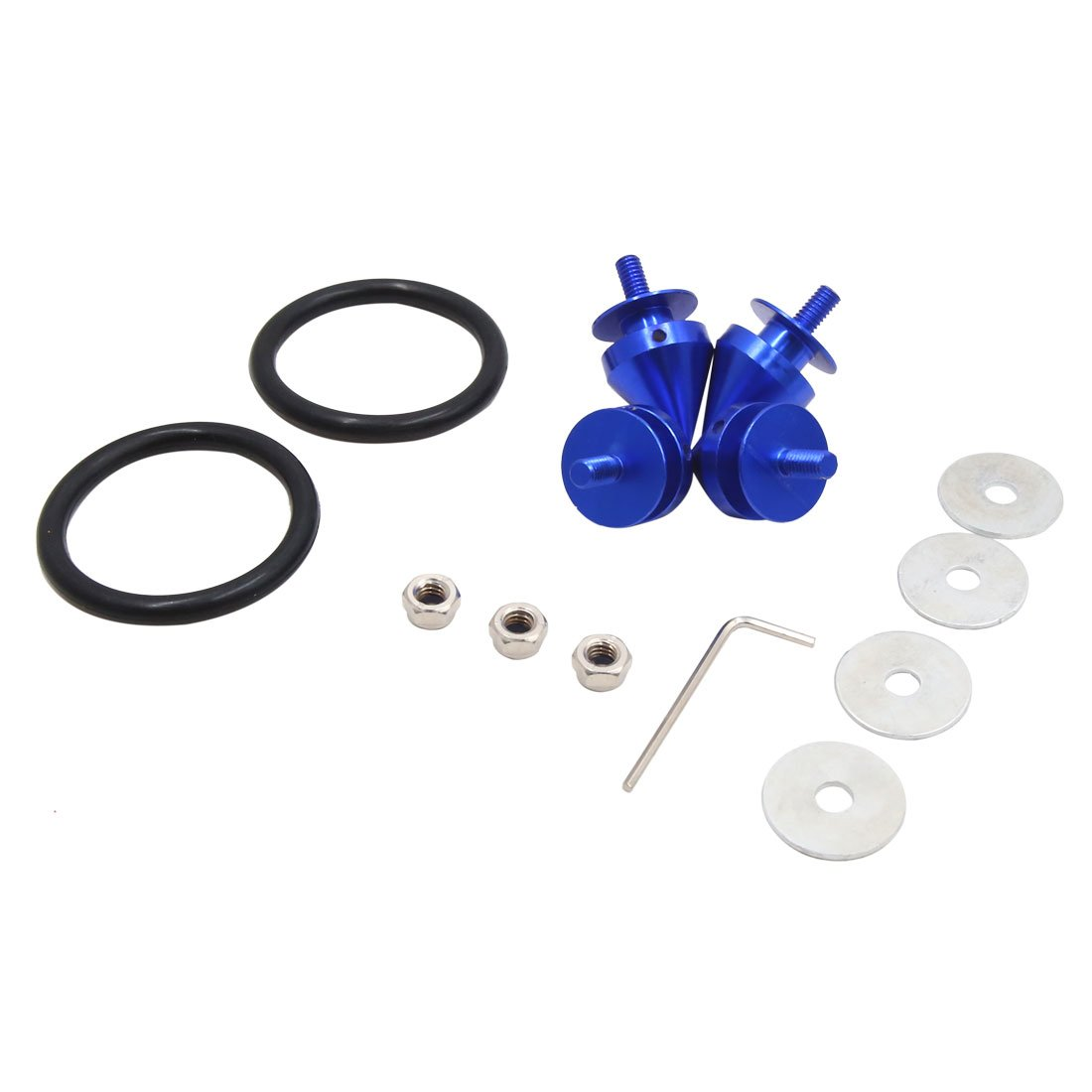 uxcell 6mm Thread Dia Car Hatch Lids Bumpers Trunk Fixed Button Fasteners Kit Blue