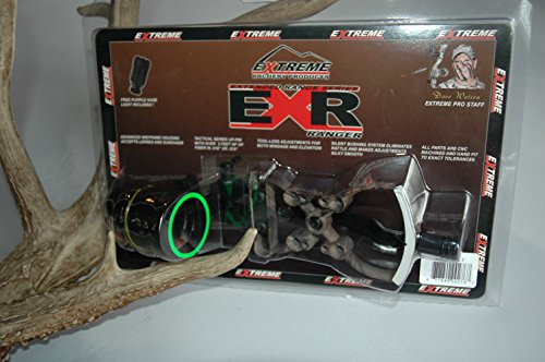 Extreme Raptor 1000 Ranger Sight w/Rheostat Light RH Lost 1 Pin .019'' by Extreme Archery