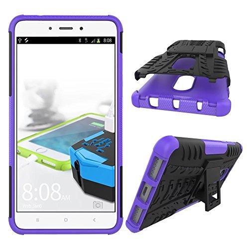 OFU®Para Huawei Enjoy 6S 5.0 Smartphone, Híbrido caja de la armadura para el teléfono Huawei Enjoy 6S 5.0 resistente a prueba de golpes contra la lucha de viaje accesorios esenciales del teléfono-pú púrpura