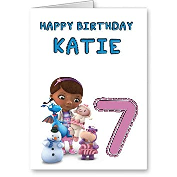 Personalised Doc Mcstuffins Birthday Card Amazon Kitchen Home