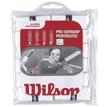 Wilson - Juego de 12 grips perforados, color blanco: Amazon.es: Deportes y aire libre
