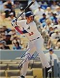Scott Van Slyke Hand Signed Autographed 8x10 Photo Los Angeles Dodgers 2015 Bat