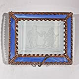 Cowboy, Bulldogger, Rodeo, Stained Glass Jewelry Box, Presentation Box, Keepsake Box, Glass Jewels, Swarovski Crystals, USA Made