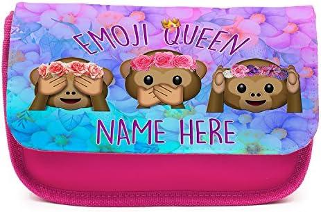 Estuche personalizado Emoji MONKY Smily Emojicon KS60 para niñas, bonito estuche escolar, color rosa: Amazon.es: Oficina y papelería