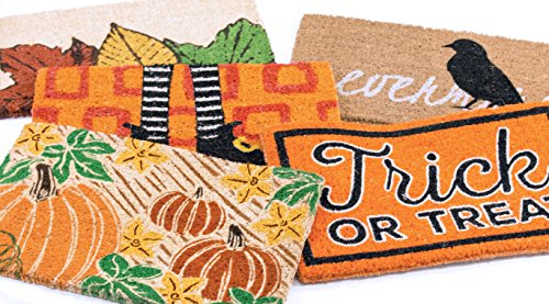 Entryways Pumpkin Patch, Hand-Stenciled, All-Natural Coconut Fiber Coir Doormat 18'' X 30'' x .75'' by Entryways (Image #2)