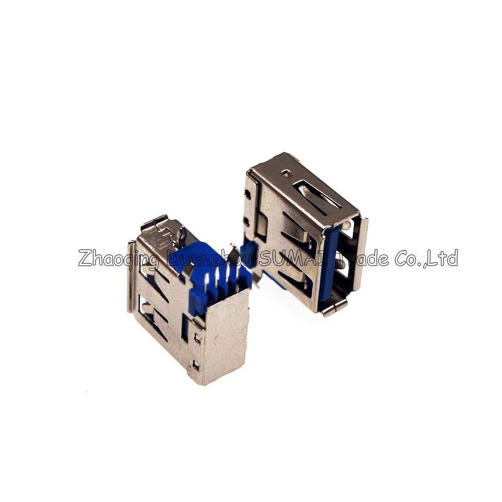 Gimax USB 2.0 4Pin 90 angle side Pin USB female Jacks//socket for Desktop Laptop PC//phone charger etc.4 pin USB jack,blue Color: WHITE, Package: 500 PCS