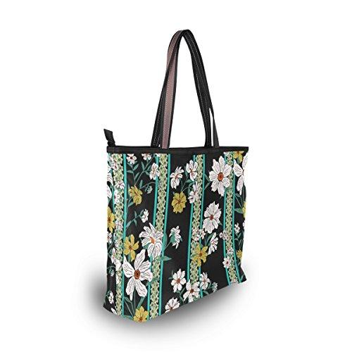 tout Alaza Floral À D'épaule Main Fleurs Belle Fourre Grand Sac aanHqAwg