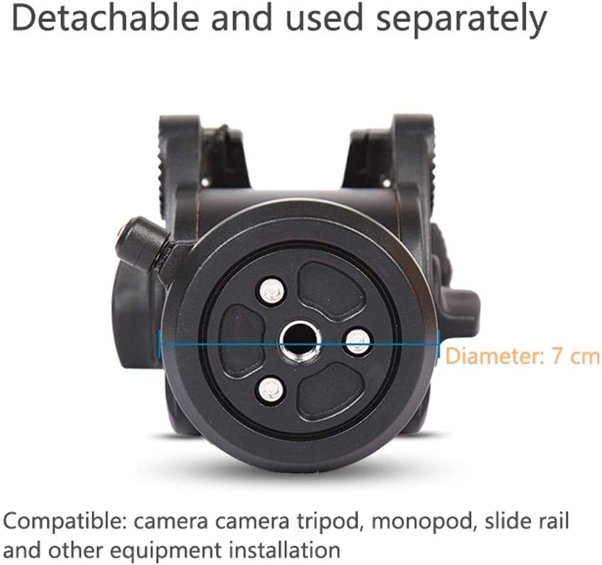 Panoramic Video Camera 3//8 Universal Interface Hydraulic Damping Head Video Tripod Heads Tripod monopod Size : JY0506H-B