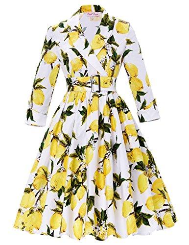 Womens Floral Vintage Dresses Sleeves