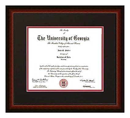 Amazon.com - Athens Art and Frame Traditional UGA Diploma Frame ...