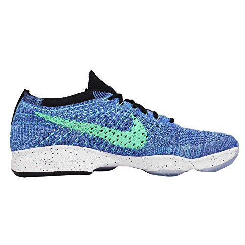 Nike Flyknit Zoom Agilità Gioco Da Donna Royal / Green Glow / Nero Running Sneakers