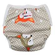 Baby swim diapers - Premium, stylish, Adjustable reusable swimming suit diapers shirt for kids, boys and girls (FOX)