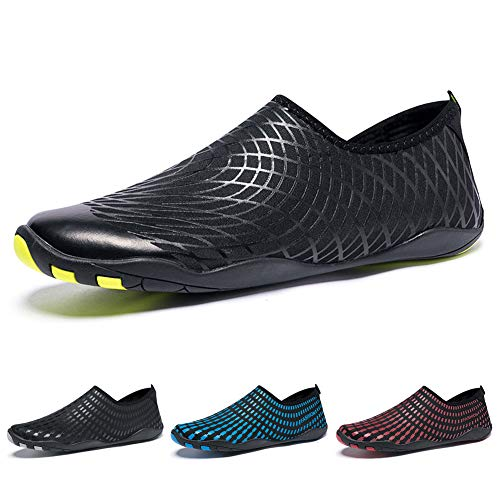 Womens Surfing Diving Black Mens Walking Sports Aqua Driving for Madaleno Shoes Beach Yoga Water Garden net Dry Swim Shoes Boating Quick Lightweight g6wtOnS