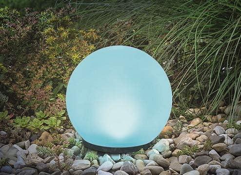 [スポンサー プロダクト]【ボリューム感の光り / 直径20cm ソーラーボールライト】磨りガラスような質感でボリューム感の光りと演出し、癒し空間を作る!! 配線不要なソーラー式/日亜製 LED ホワイトカラー&マルチカラー7色(お好み色調節可)、夜間自動点灯・昼間自動消灯 / ニッケル水素充電池1個内蔵、付属スパイク2本付き、 防水規格:IP65 用途: イルミネーション お店のディスプレー、キャンプ場、お庭・ベランダ・パーティ会場 GWソーラー(GW-DO310-20)