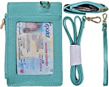 #6: Beurlike Genuine Leather 2-Sided ID Badge Holder Wallet with 1 ID Window, 3 Card Slots with Cover, 1 Side Zipper Coin Pocket, 1 piece 18.1