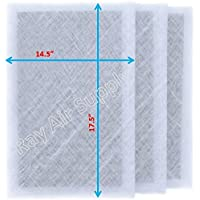 SolaceAir Air Cleaner Replacement Filter Pads 16x20 Refills (3 Pack) WHITE