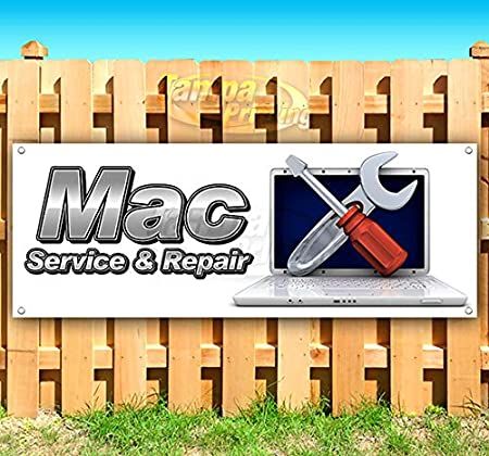 MAC Service /& Repair 13 oz Heavy Duty Vinyl Banner Sign with Metal Grommets Many Sizes Available Flag, Advertising Store New