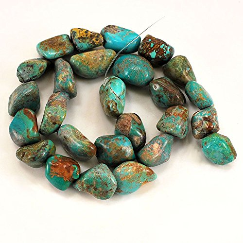 01 Blue Hubei Turquoise Nugget 12-20mm for Necklace Gemstone Loose Beads 15