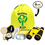 Toys : Adventure Kids - Educational Outdoor Children's Toys - Binoculars, Flashlight, Compass, Magnifying Glass, Butterfly Net & Backpack. Explorer Kit Great Kids Gift Set For Camping, Hiking & Pretend Play