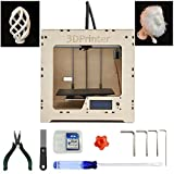 3D Printer Kit - MBOT DIY Plywood 3D Printer Assembly Kit with Single Head Extruder and 240 x 220 x 200 Build Volume
