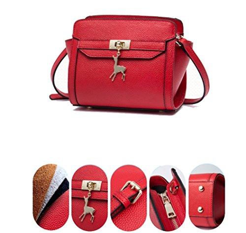 Rétro De Mesdames Sac Red à Shopping Voyage Bandoulière Sacs Occasionnels à Sac Main Messager wx6aqRx0P