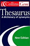 Collins Gem Thesaurus, HarperCollins Publishers Ltd. Staff, 0060085673