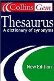 Collins Gem Thesaurus, HarperCollins Publishers Ltd. Staff, 0060085673