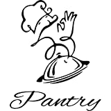 """Chef's Pantry vinyl door decal- kitchen decor (black, 11""""x13"""")"""