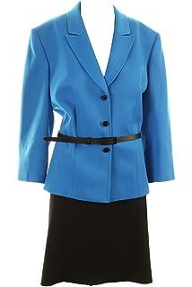 e3ae99232460 Amazon.com: Tahari Luxe Women's Nelson Skirt Suit 24W Silver ...
