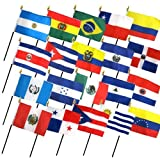 Cheap Set of 20 Latin American Flags (4×6 inch)