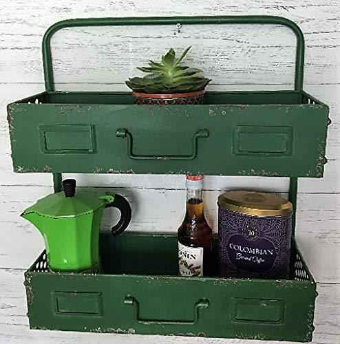 Ruby by Night Industrial Vintage Style Metal Kitchen Shelf Storage Unit Cabinet Rack Shelving