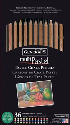 General Pencil Assorted Colors MultiPastel (R) Chalk Pencils...