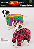 Simplicity Patterns It's So Easy Dog Coats Size: A (S-M-L), 8008