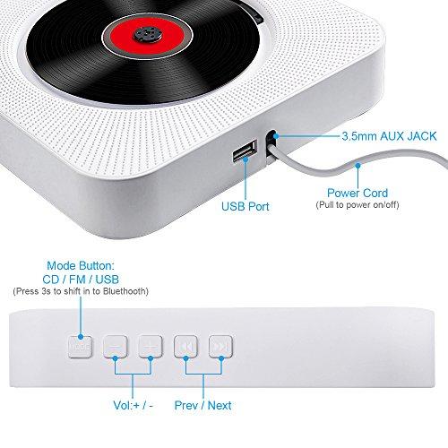 블루투스가 장착 된 CD 플레이어, 휴대용 CD 플레이어 벽 장착형..