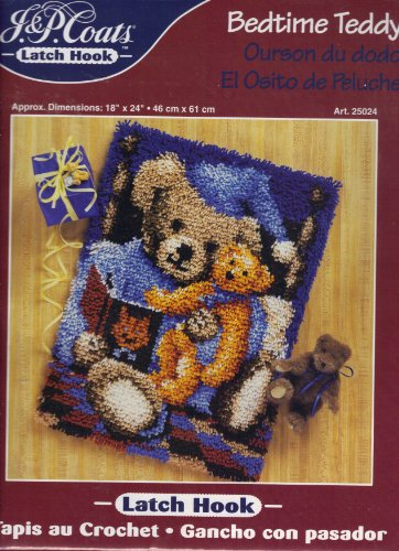 Bedtime Teddy Latch Hook by J P Coats