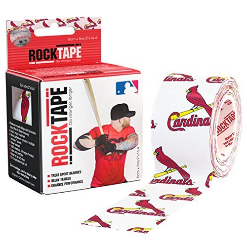Louis Cardinals Mlb Pattern - Rocktape Kinesiology RCT100-CRDN-OS MLB ST Louis Cardinals Uncut Roll Tape for Athletes, 2