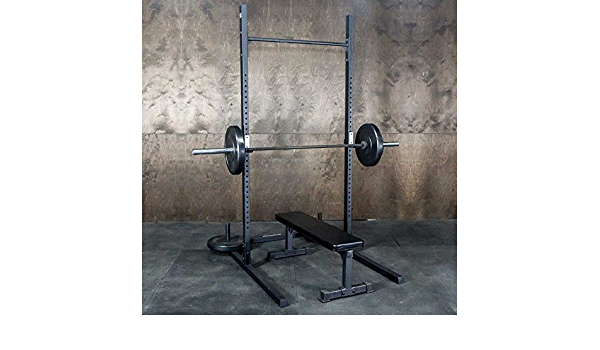 Amazon Com Squat Rack Pullup Bar By Fringe Sport 5 X 4 Footprint 1 000lb Weight Capacity Strength Conditioning Exercises Sports Outdoors