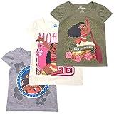 Disney Moana Toddler Girls' T-Shirt (Pack of 3) 3T Green